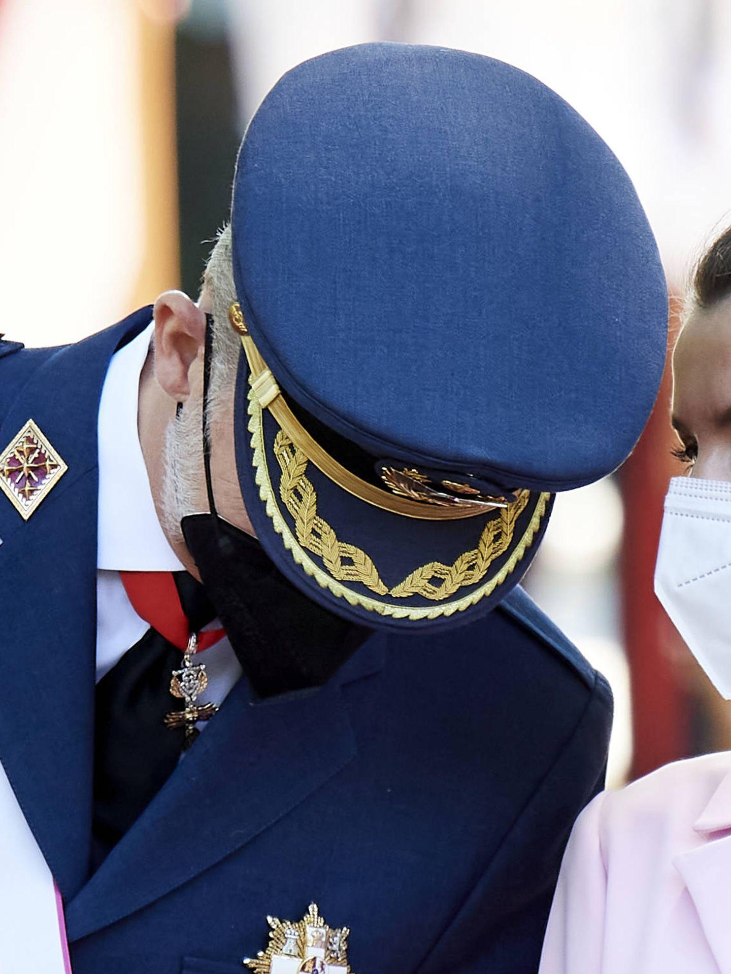 Detalle del moño de la reina Letizia. (Getty)