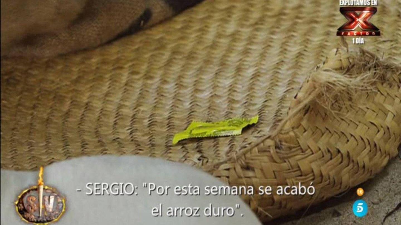 El preservativo encontrado misteriosamente. (Telecinco)