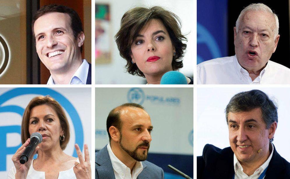 Foto: Los seis candidatos a liderar el Partido Popular (PP) tras la salida de Mariano Rajoy