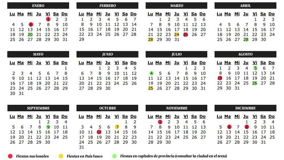 Vacaciones calendario de fiestas y laborables 2016 en for Laboral kutxa oficinas bilbao