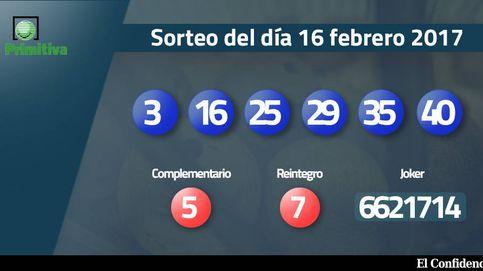 Resultados de la Primitiva del 16 febrero 2017: números del sorteo