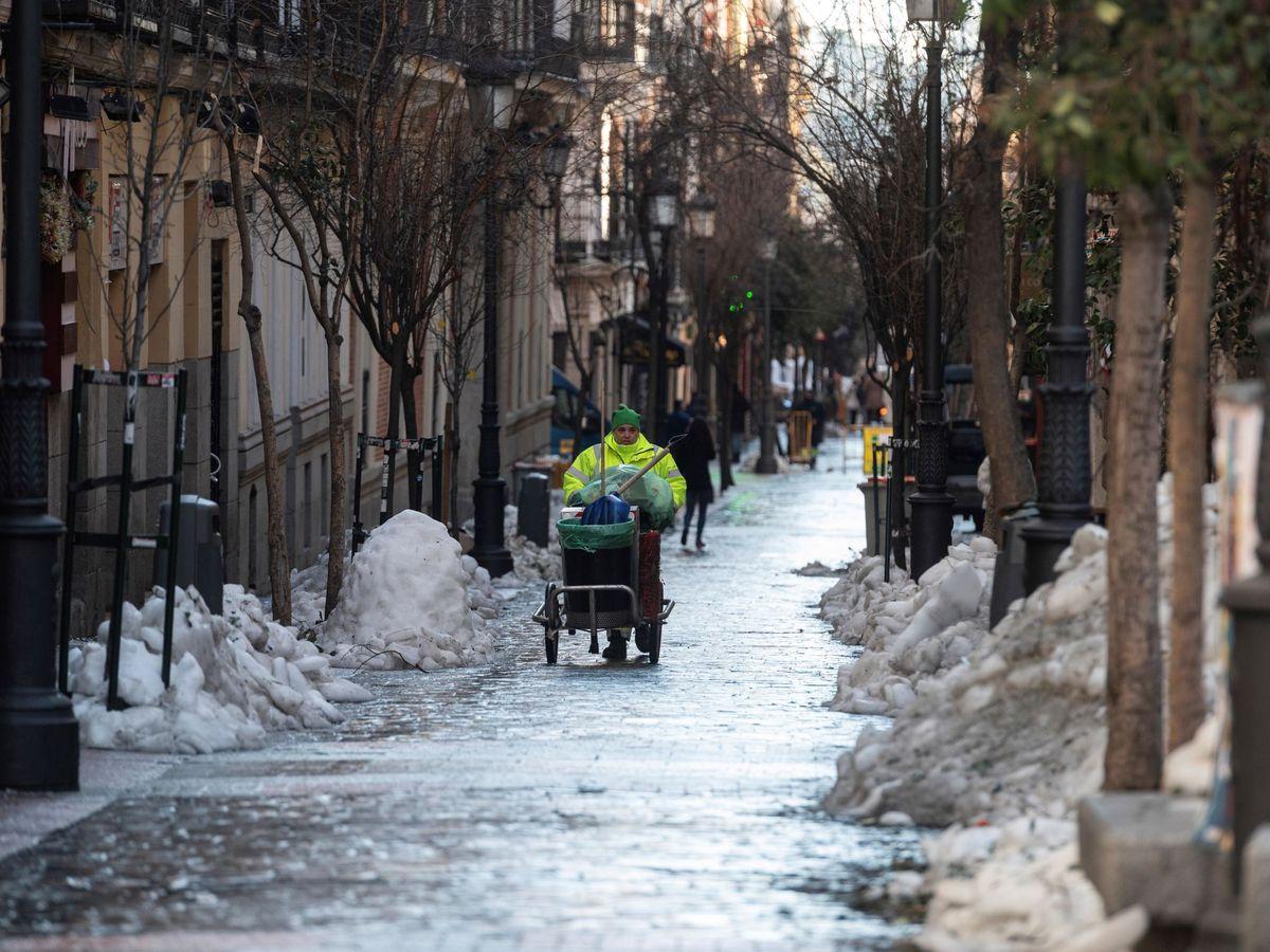 Foto: Una calle del centro de Madrid, el pasado día 19. (EFE)