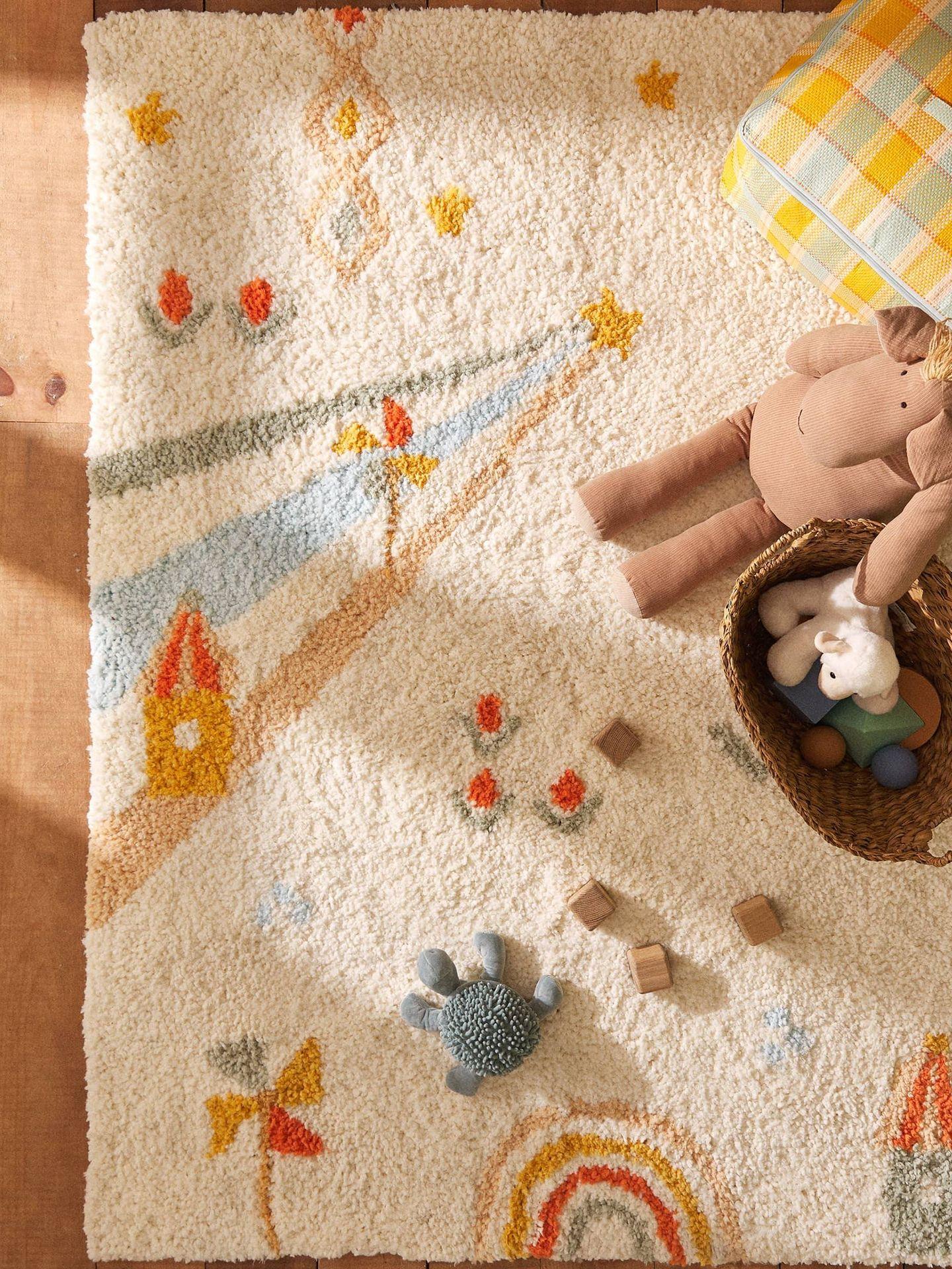 Alfombras para dormitorios infantiles en Zara Home. (Cortesía)
