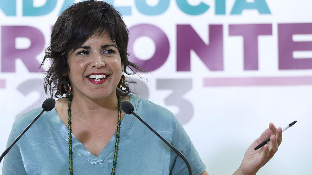 Foto: La coordinadora de Podemos Andalucía y presidenta del grupo parlamentario Adelante Andalucía, Teresa Rodríguez. (EFE)
