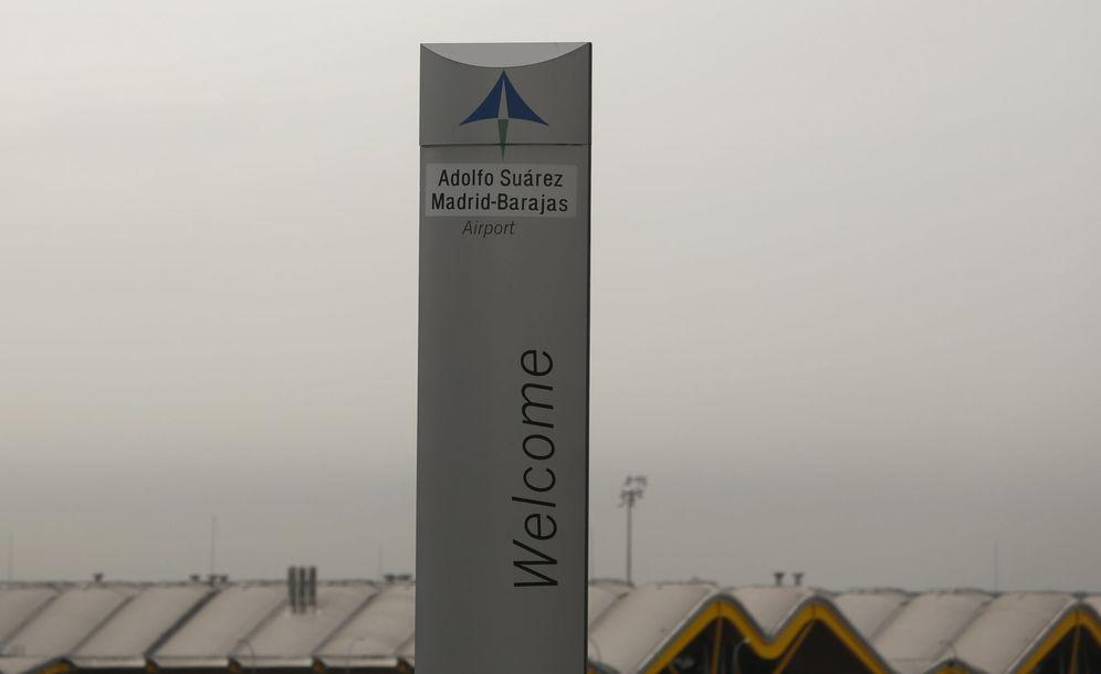 Foto: Logo de Aena en el aeropuerto de Barajas