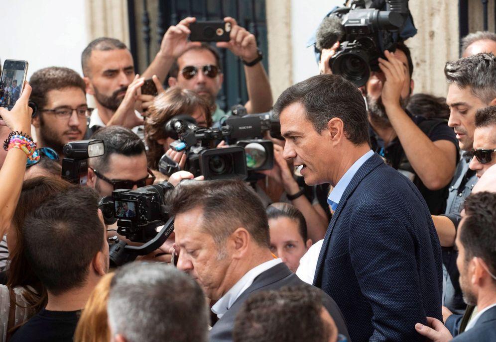 Foto: El presidente del Gobierno en funciones, Pedro Sánchez, este 16 de septiembre en Níjar, Almería. (EFE)