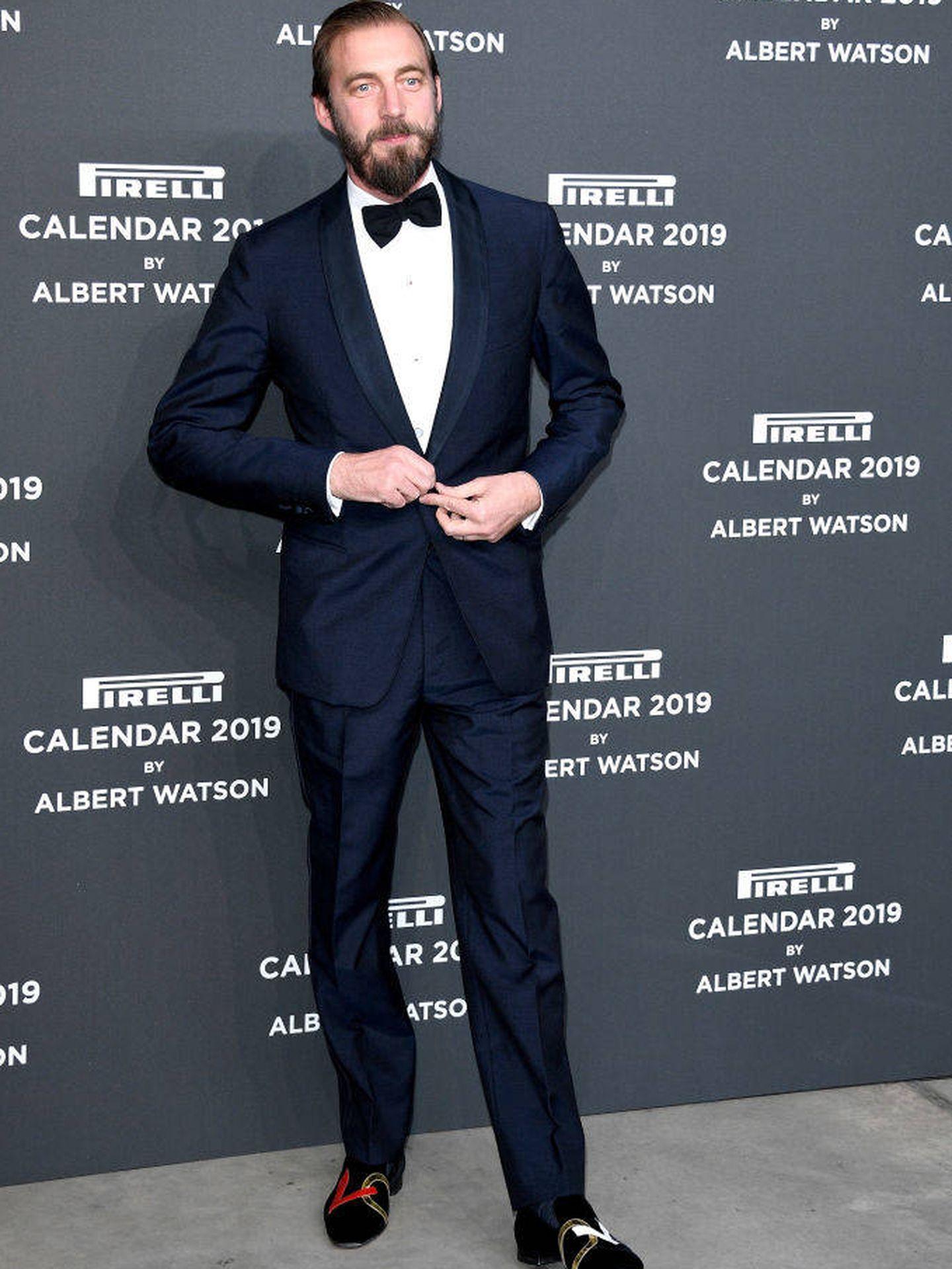 El príncipe, en la presentación del calendario Pirelli de 2019. (Getty)