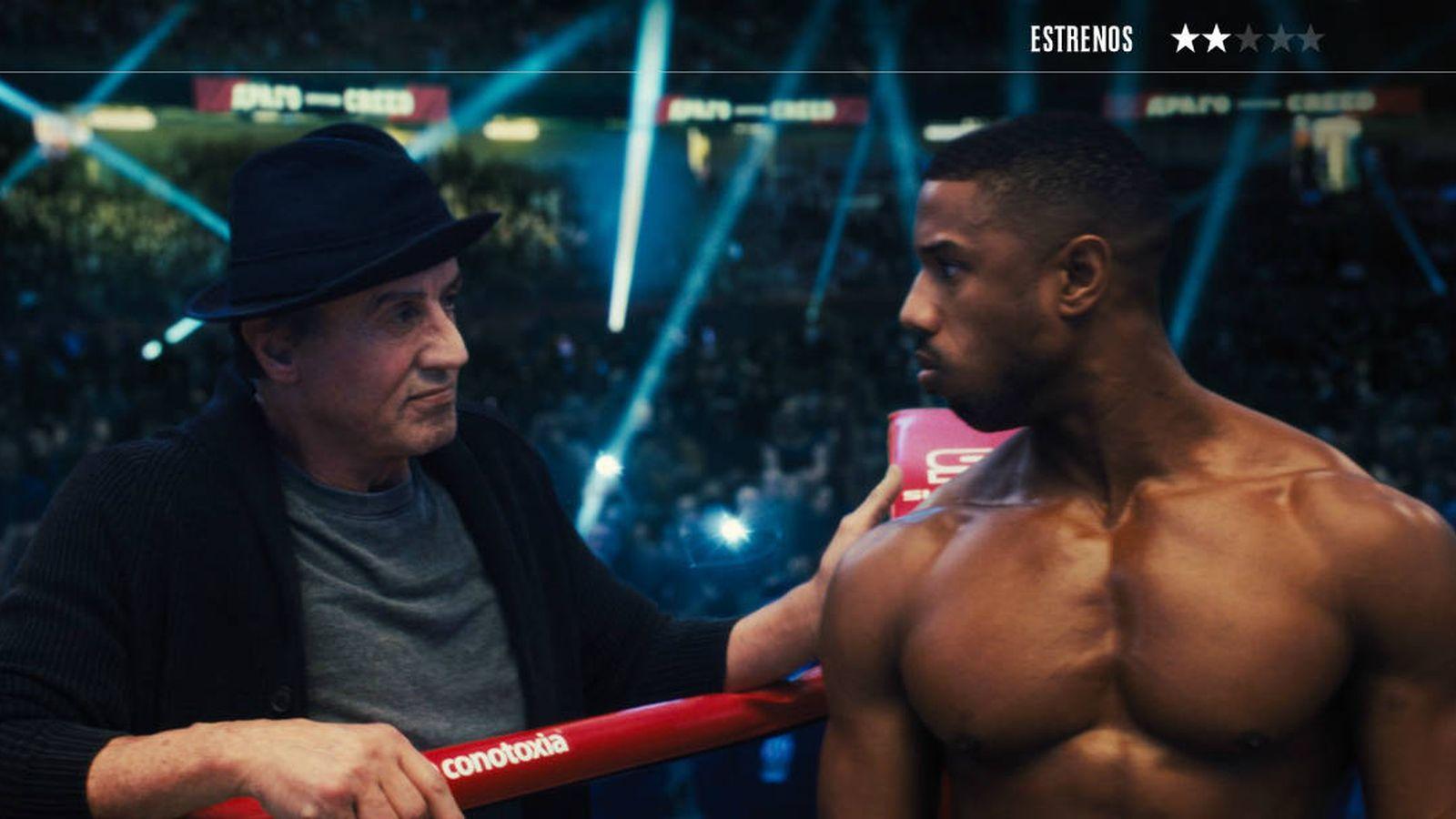 Foto: Sylvester Stallone y Michael B. Jordan, en 'Creed II: la leyenda de Rocky'. (Warner)