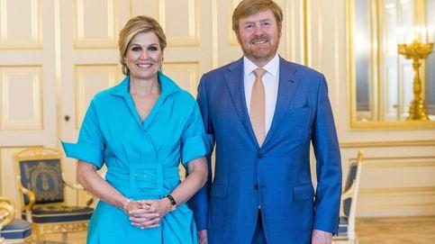 Algo viejo, algo nuevo y algo azul: el llamativo look de Máxima de Holanda en su última cita