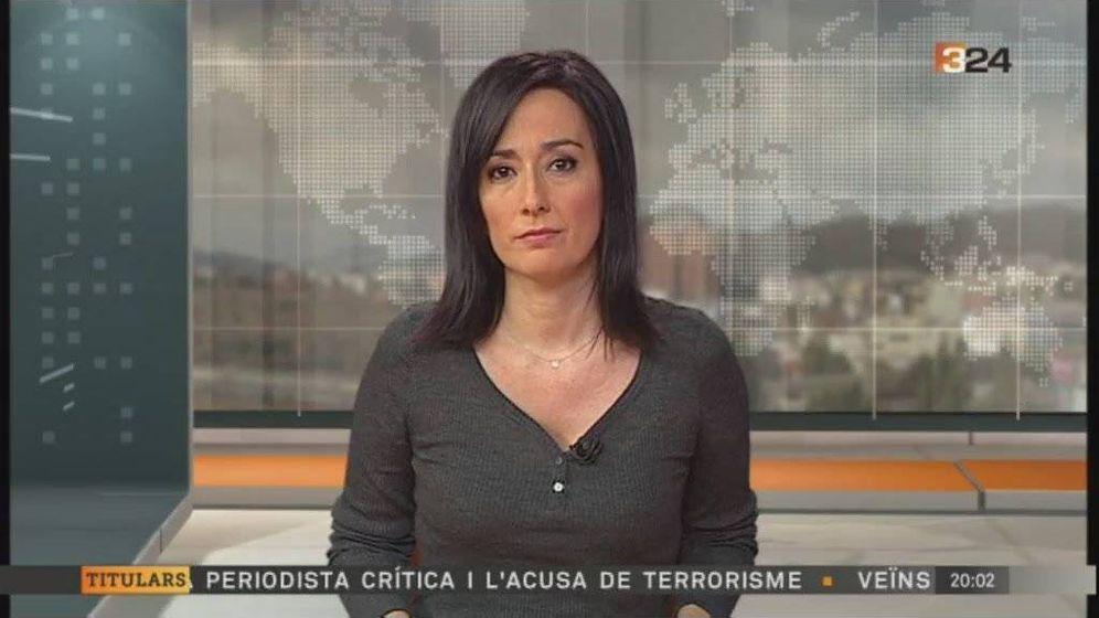 Foto: Judith Antequera, en el Canal 3/24. (TV3).