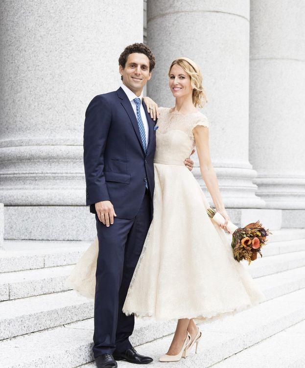 Foto: Vega Royo-Villanova y su marido, Marcelo Berenstein (Pronovias)