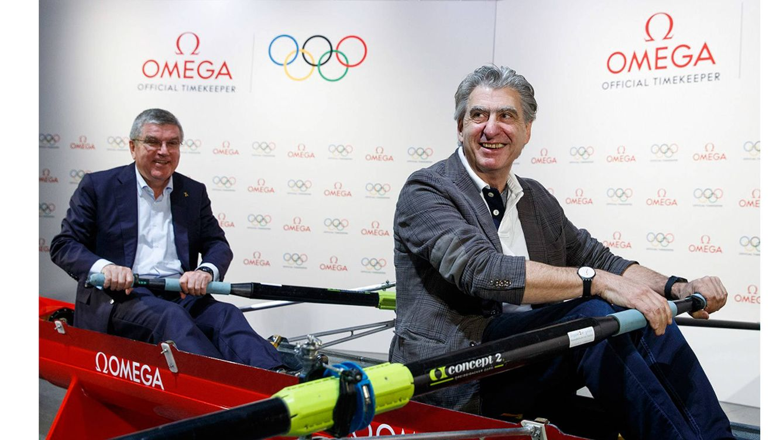 Foto: Momento del anuncio del compromiso de Omega como cronometradora oficial de los Juegos Olímpicos de 2032.