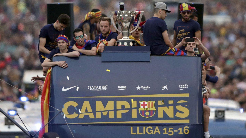 Celebración del Barça del titulo de Liga 2015-16. (EFE)