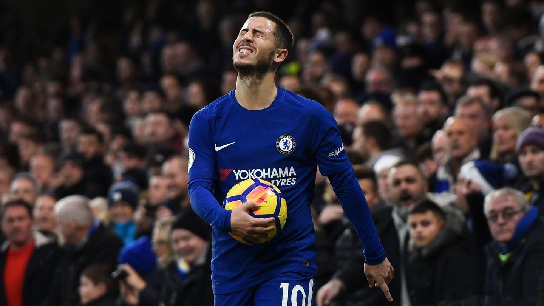 Eden Hazard, durante un partido del Chelsea. (EFE)