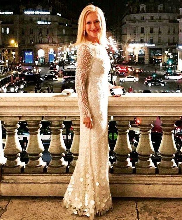 Foto: Cristina Cifuentes posando en el balcón del Palais Garnier. (Instagram)