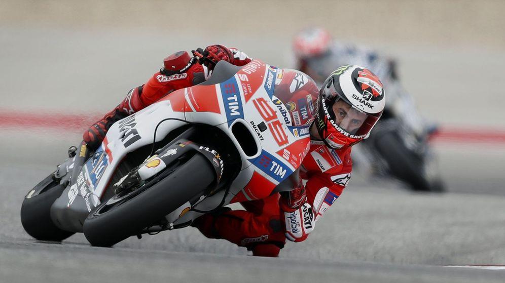 Foto: Jorge Lorenzo en su Ducati por Austin. (EFE)