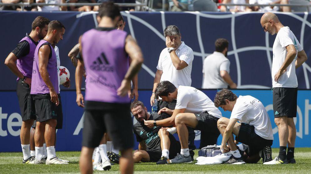 Foto: Imagen de un entrenamiento del Real Madrid durante la pasada temporada. (EFE)