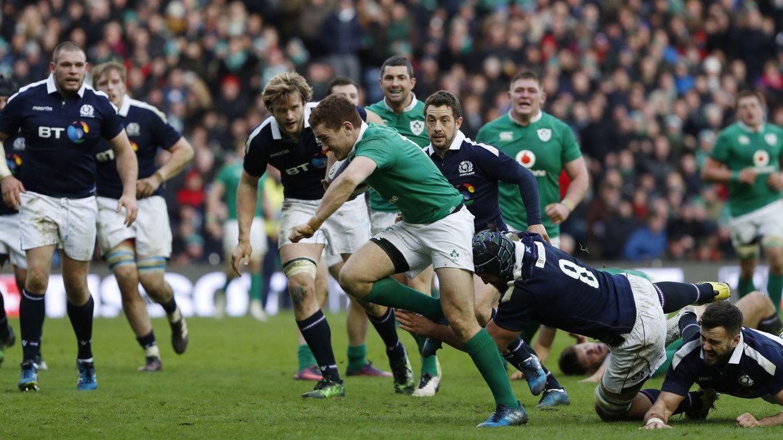 Foto: Escocia frenó a Irlanda en el primer partido del Seis Naciones 2017, disputado en Murrayfield. (REUTERS)
