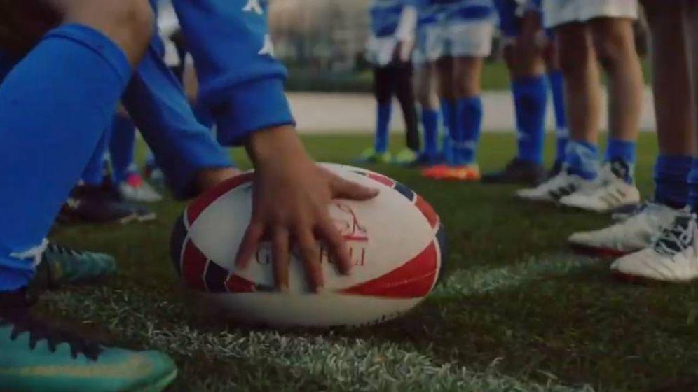 Foto: Rugby cinta: entre pequeños y sin heridas.