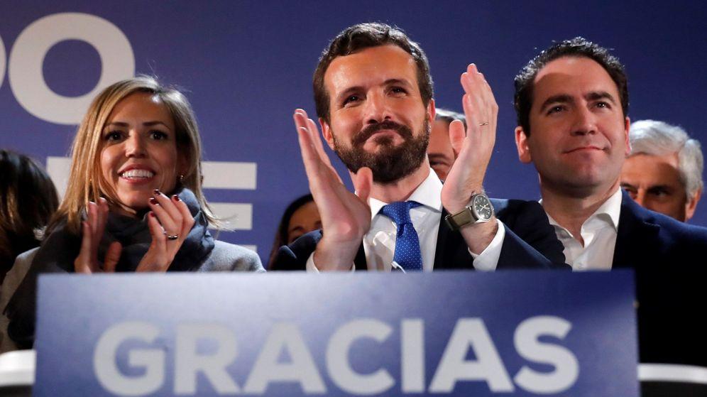 Foto: El líder del PP, Pablo Casado, tras los resultados electorales. (EFE)