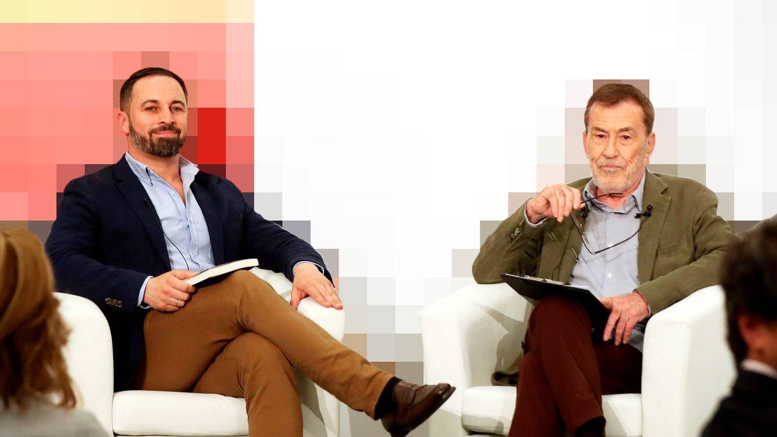 Foto: Santiago Abascal y Fernando Sánchez Dragó. (EFE)