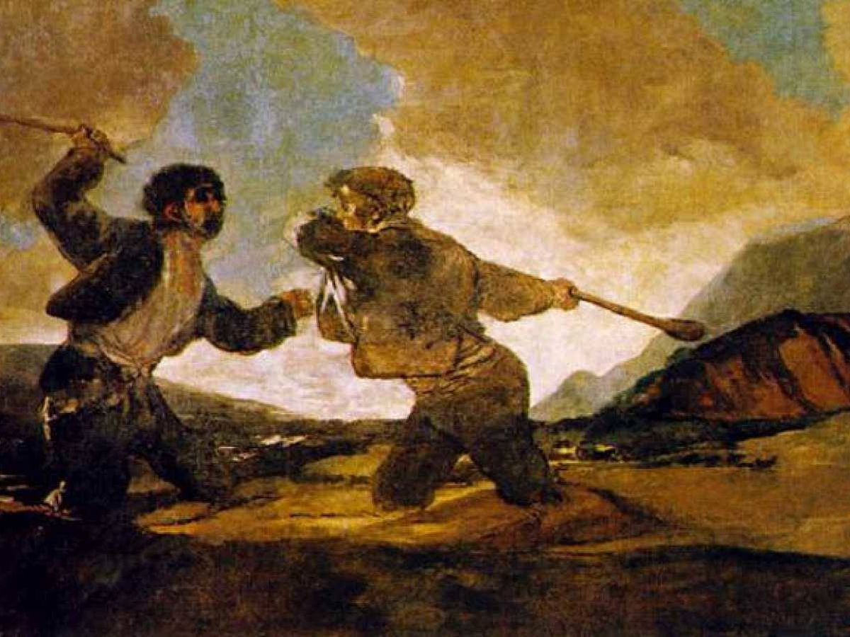 Foto: 'Duelo a garrotazos'. (Goya)