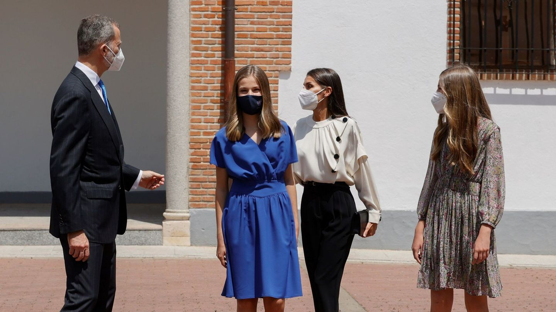 Leonor y familia. (EFE)