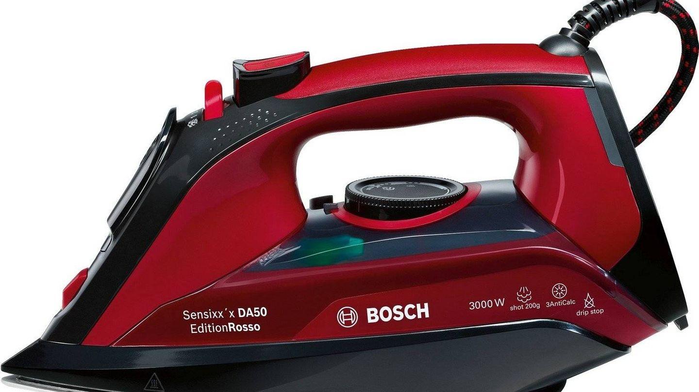 Rápida plancha de vapor Bosch de 3000W y fácil limpieza