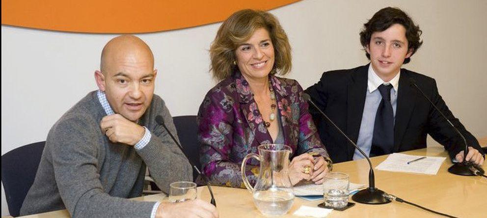 Foto: Francisco Nicolás, Jaime García-Legaz y la alcaldesa de Madrid, Ana Botella.