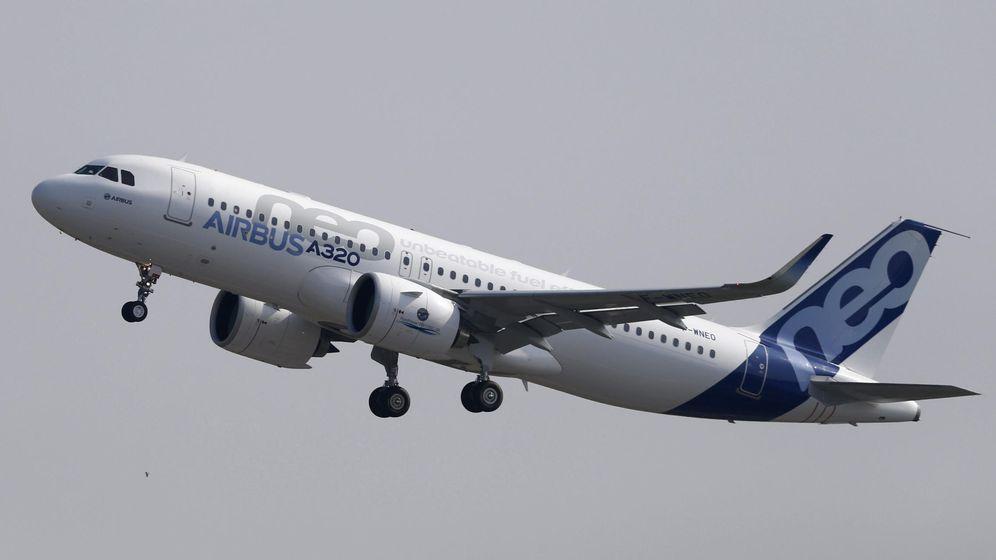 Foto: Vuelo de prueba del Airbus A320neo. (EFE)