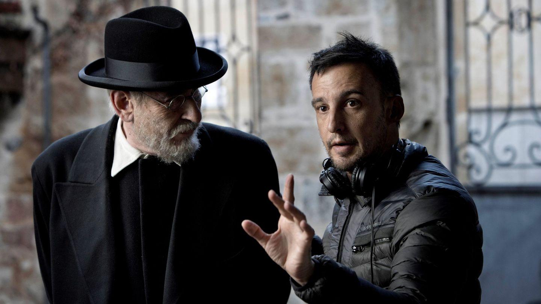 Imagen del rodaje de 'Mientras dure la guerra', del director Alejandro Amenábar. (EFE)