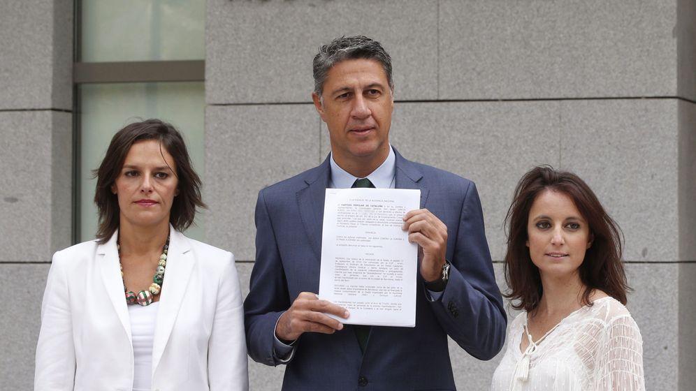 Foto:  El coordinador general del PP de Cataluña, Xavier García Albiol,tras la denuncia. (Efe)