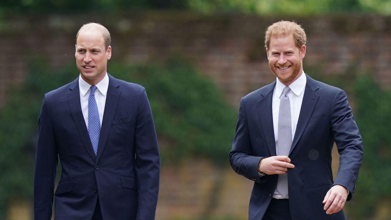 Guillermo y Harry, en el homenaje a Diana de Gales. (Reuters)