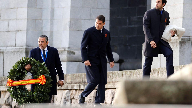 El nieto de Franco, Jaime Martínez-Bordiú, junto a Alfonso de Borbón y Daniel Martínez-Bordiú y Toledo.(EFE)