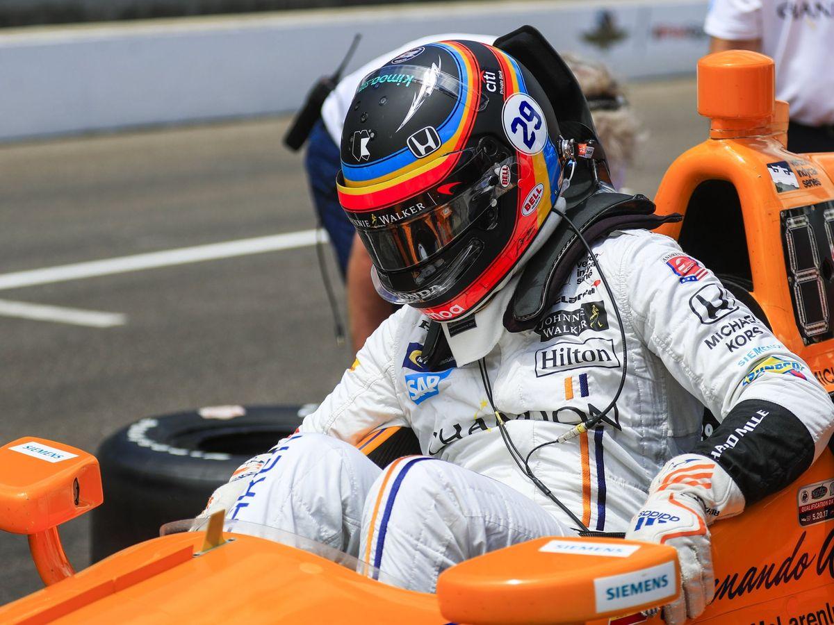Foto: Fernando Alonso en el Andretti Autosport de 2017. (EFE)