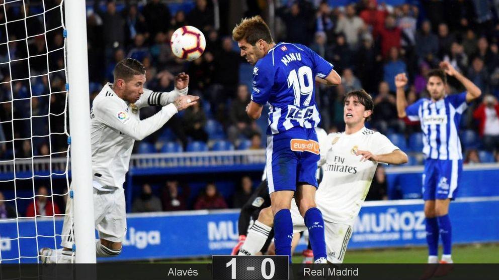 El hundimiento del Madrid en Vitoria con Florentino sufriendo en el palco