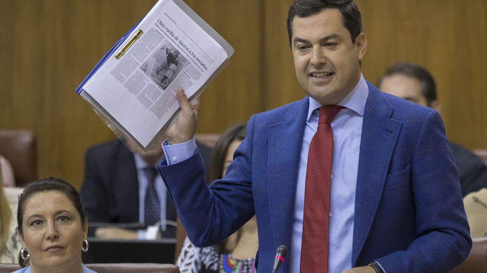 Foto: El presidente del PP de Andalucía, Juanma Moreno. (EFE)