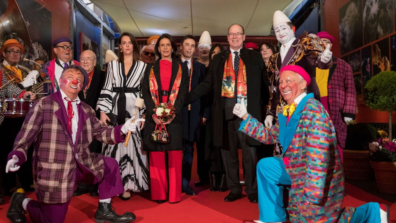 Estefanía, Alberto y Pauline Ducruet, en el Festival Internacional de Circo de Montecarlo. (EFE)