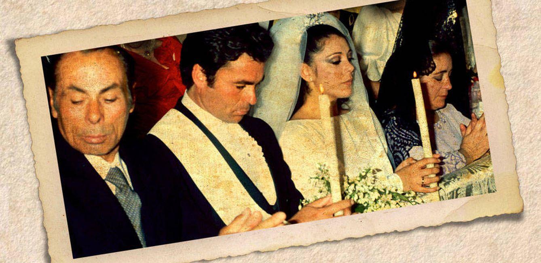Foto: Isabel Pantoja y Paquirri el día de su boda (Fotomontaje de Vanitatis)