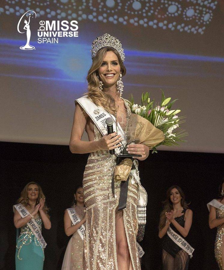 Foto: Ángela Ponce, en el momento de ganar el certamen español. (Cordon)
