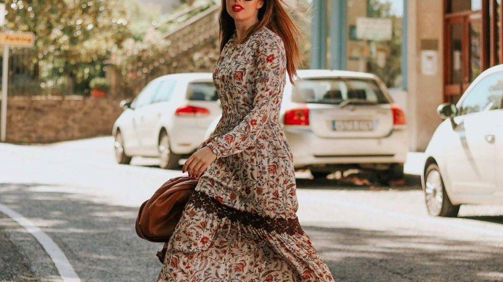 Foto: Lidia Bedman, con el outfit bohemio en cuestión. (Instagram)