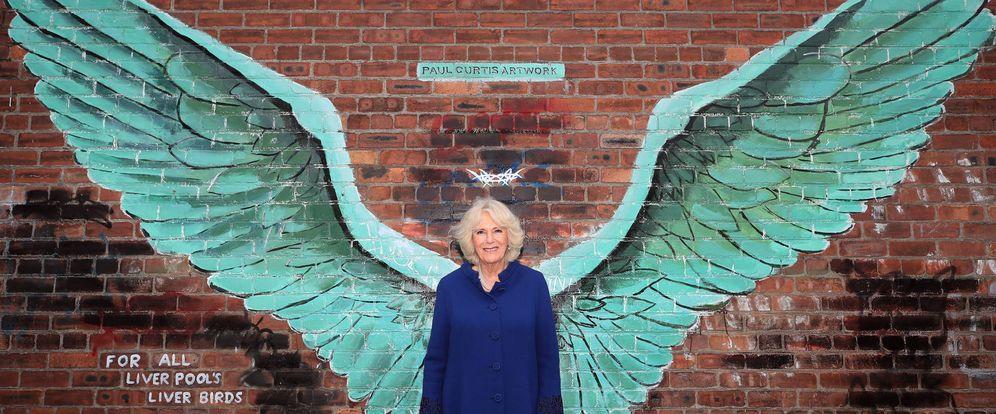 Foto: Camilla Parker en su reciente visita a Liverpool. (Getty)