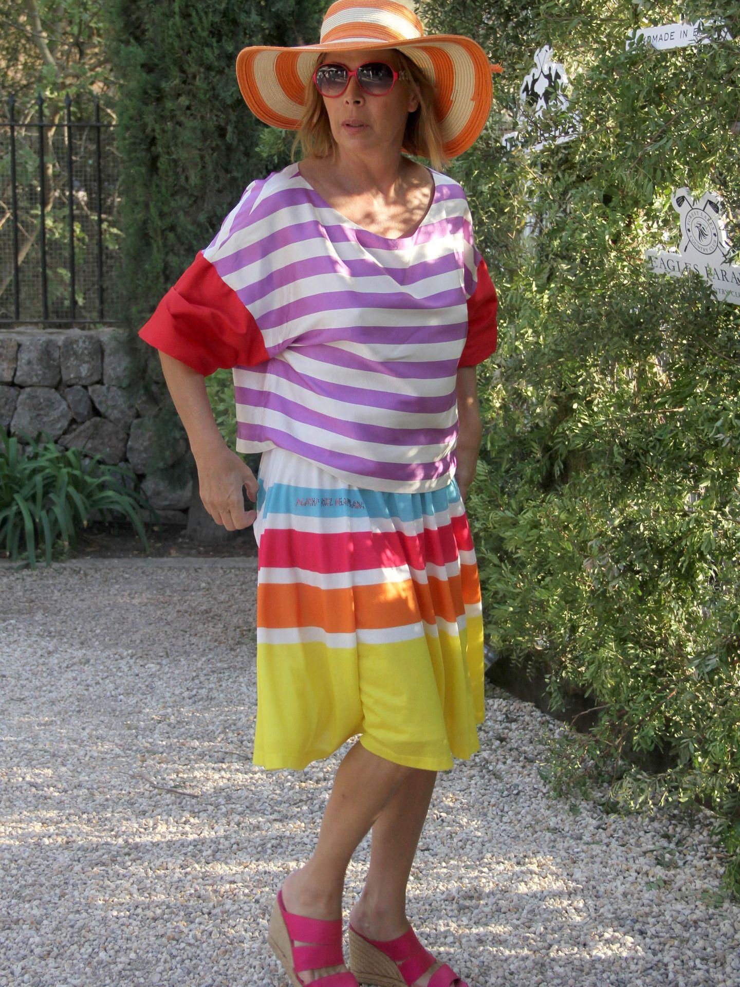 La diseñadora este verano en Mallorca (Gtres)