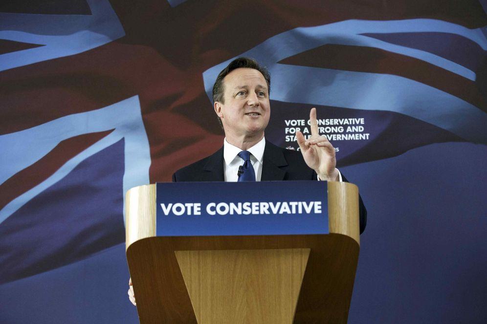 Foto: El primer ministro británico, David Cameron, durante un acto de campaña en Nuneaton, el 3 de mayo de 2015 (Reuters).