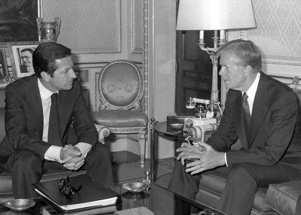 Foto: Adolfo Suárez visita la Casa Blanca, en 1977, junto a Jimmy Carter (EFE)