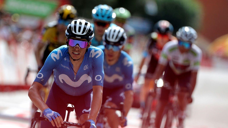 Enric Mas, durante la etapa de este domingo. (EFE)