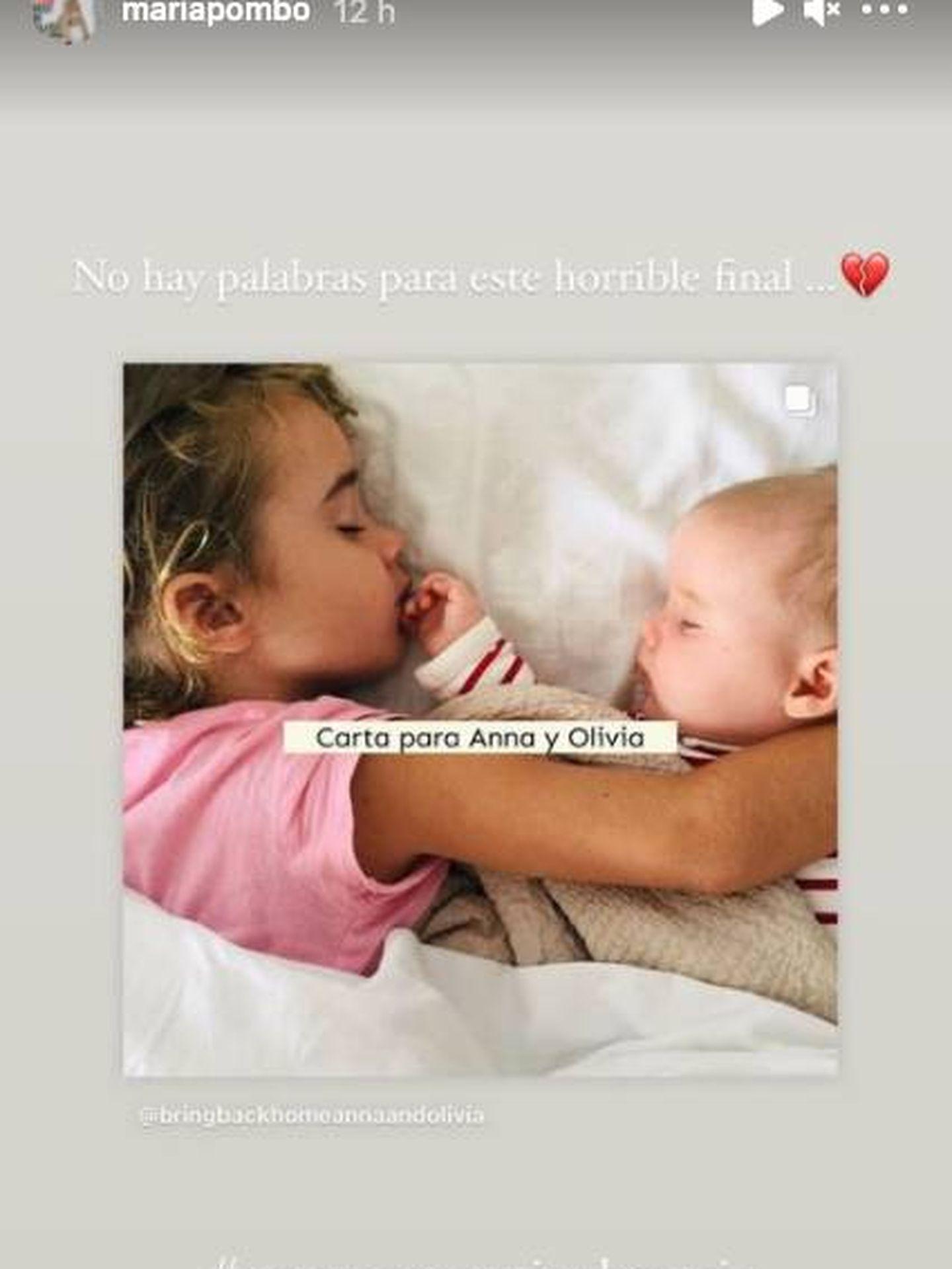 El recuerdo a las niñas de María Pombo. (Instagram @mariapombo)