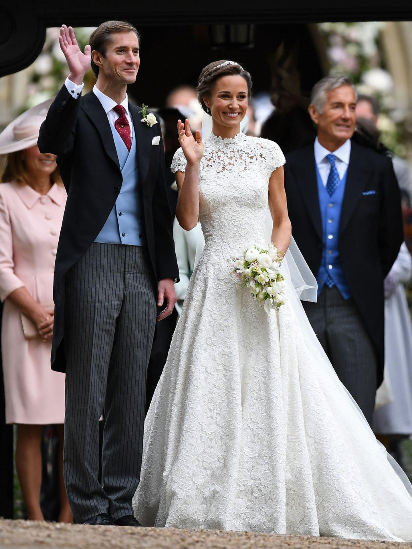 El vestido de novia de Pippa Middleton. (EFE)