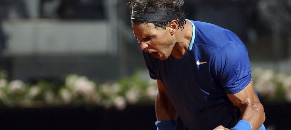 Foto: Rafa Nadal celebra su pase a las semifinales del Masters de Roma (AP).