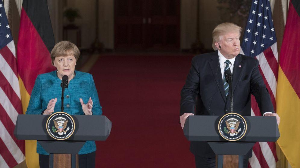 Foto: La canciller alemana, Angela Merkel, junto al presidente de Estados Unidos, Donald Trump. (Reuters)